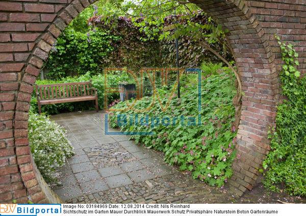 Details Zu 0003184969 Sichtschutz Im Garten Mauer Durchblick