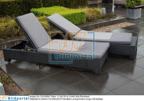 Details zu 0003184947 sitzplatz im garten flechtm bel polyrattan loungem bel liege mit - Flechtmobel garten ...